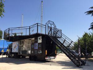Mise en place de notre simulateur de chute libre pour des collectivités de la région Parisienne.